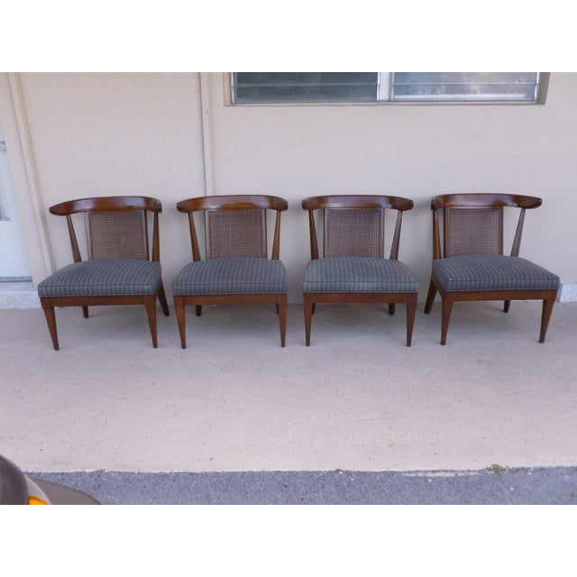 Fabric 1950's Vintage Klismos Style Slipper Chairs- Set of 4 For Sale - Image 7 of 7