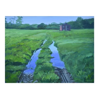 """Ruts in the Field to the Chicken Coop"" Painting"
