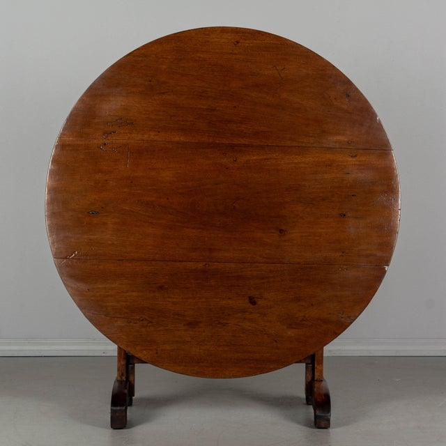 19th Century 19th C. French Wine Tasting Table or Tilt-Top Table For Sale - Image 5 of 12
