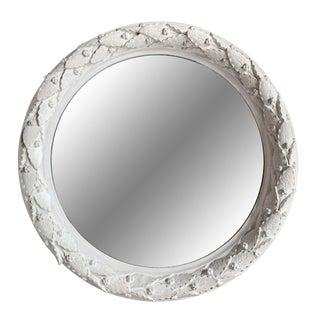 Plaster Laurel Wreath Mirror For Sale