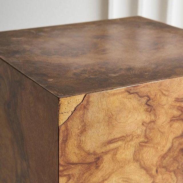 Burl Effect Pedestal For Sale - Image 4 of 6
