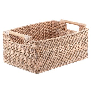 Balinese Woven Handled Basket For Sale
