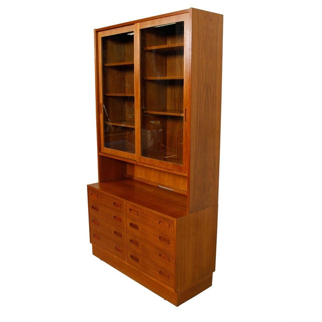 Danish Modern Teak Bookcase Display Cabinet - Image 1 of 8