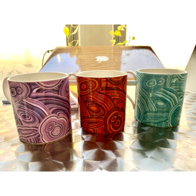 Jonathan Adler Malachite-Patterned Mugs - Set of 2 For Sale In New York - Image 6 of 6