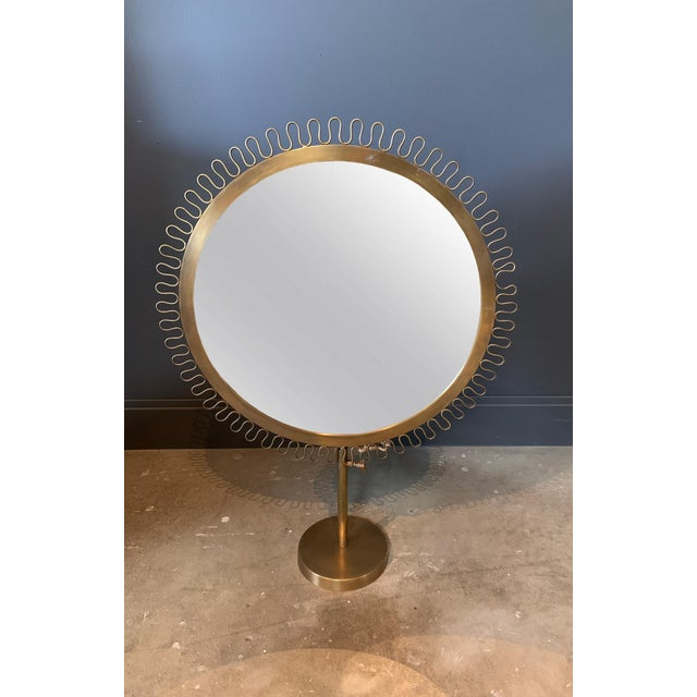 2010s Sunburst Standing Table Mirror For Sale - Image 5 of 5