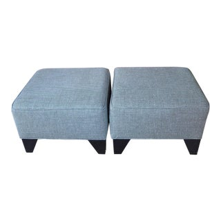 Portico Home Houndstooth Ottomans - a Pair For Sale