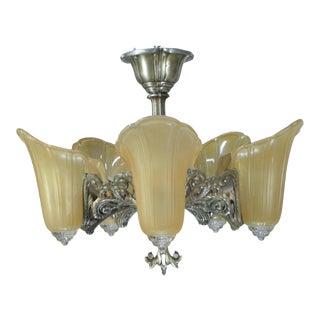 "1937 Art Deco ""Normandy"" Chandelier For Sale"