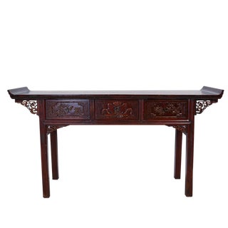 Antique Chinese Carved Zhejiang Altar Table For Sale