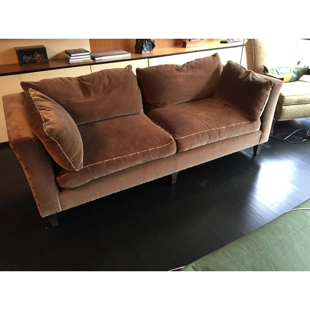 2000 - 2009 Baker Madison Taupe Mohair Sofa For Sale - Image 5 of 8