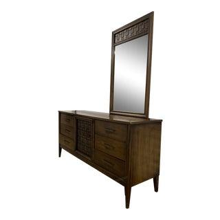 Vintage Mid-Century Modern Dresser With Mirror For Sale