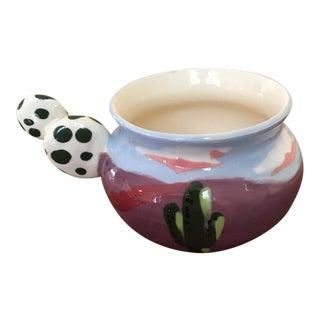 Southwestern Vista Ceramic Art Cup For Sale