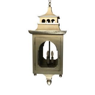 1970s Chinoiserie English Hall Pendant Lantern For Sale