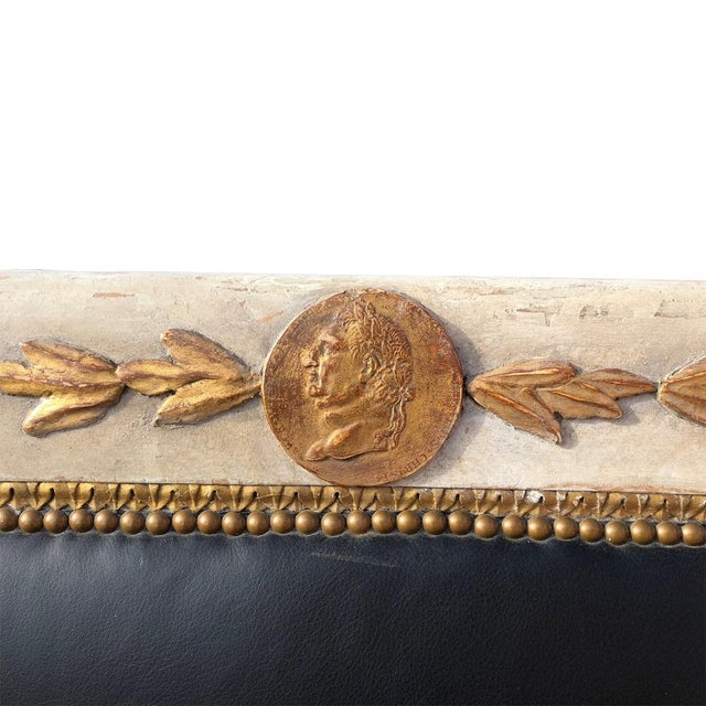 Late 19th Century 1800's French Carved and Gilded Settee For Sale - Image 5 of 8