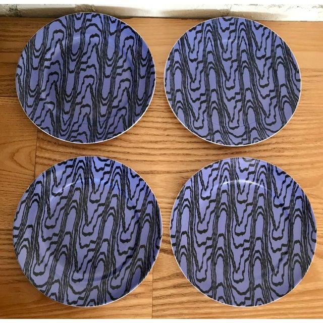 Contemporary Designer Porcelain Salad Plates - Set of 4 For Sale - Image 9 of 9