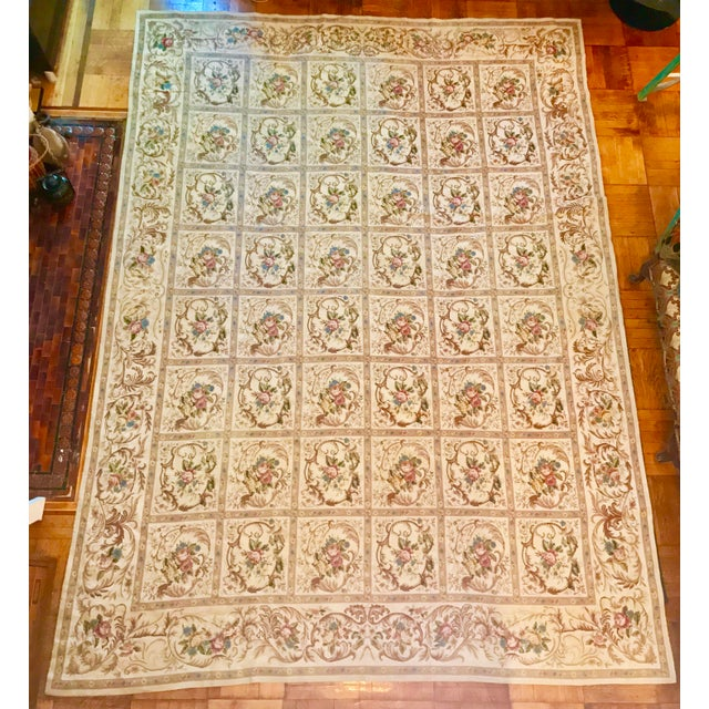 Belle Epoque French Aubusson Needlepoint Rug - 8′6″ × 11′6″ For Sale - Image 3 of 11