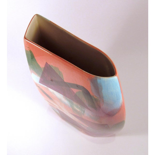 Vintage 1989 John Bergen Studio Ceramic Vase For Sale - Image 9 of 12