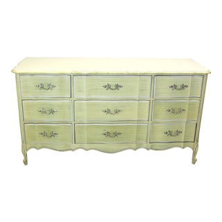 Mid Century Canary Yellow Dresser For Sale
