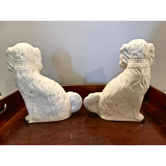 Pair Large English Staffordshire Spaniels, C. 1860 For Sale In Los Angeles - Image 6 of 10