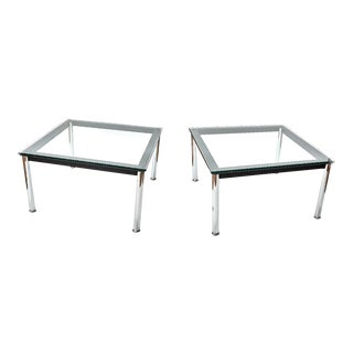 "Mid-Century Modern Le Corbusier, Perriand and Jeanneret ""Lc10-P"" End Tables - a Pair For Sale"