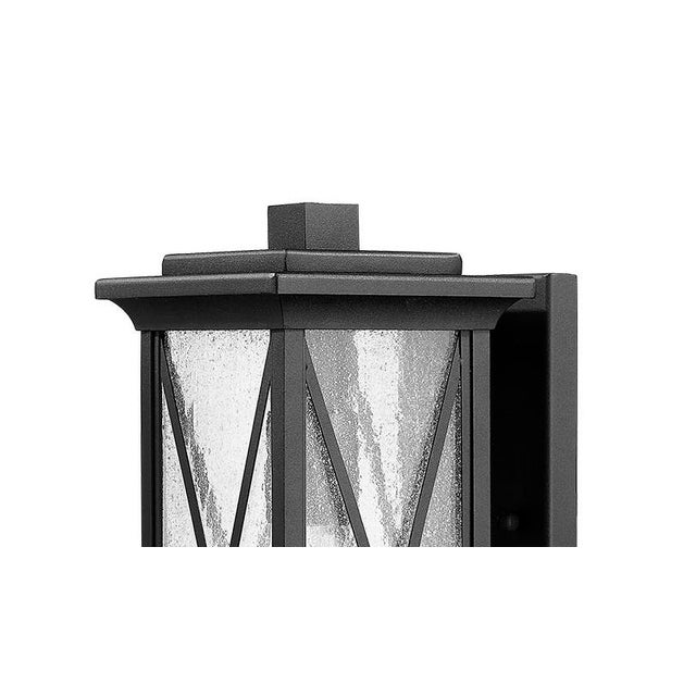 The Morris 1 light outdoor wall scone is the perfect touch of rustic elegance Takes 100W bulb.