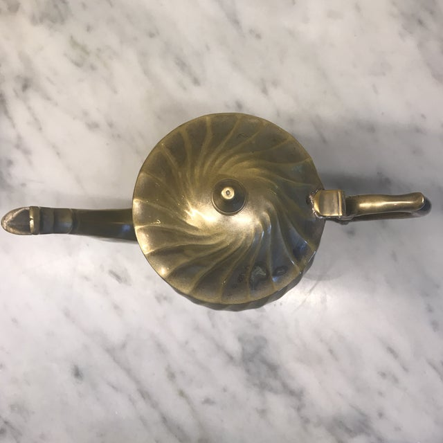 1930s Art Deco Swirl Silver Plated Tea Pot For Sale - Image 5 of 6