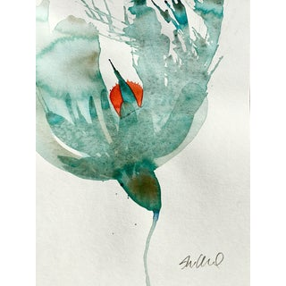 'Monterey' Watercolor Botanical Painting For Sale