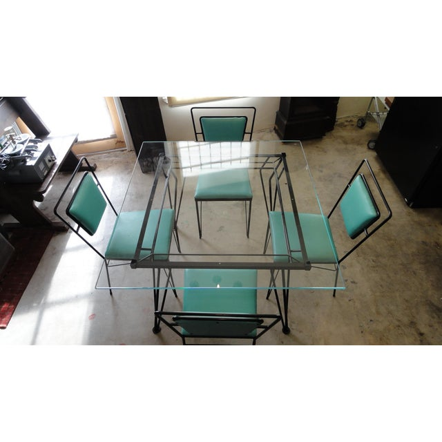 Atomic Age Mid-Century Iron Dining Set - Image 3 of 11