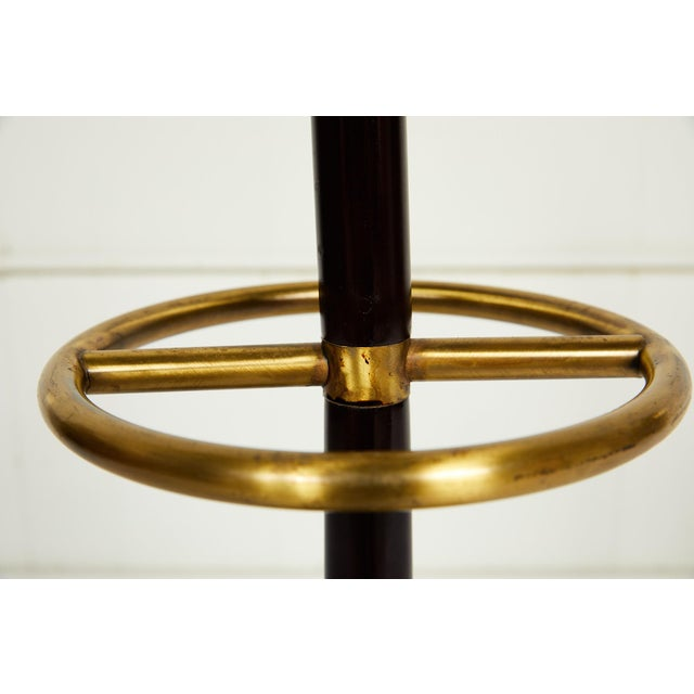 Gold 20th Century Brass and Mahogany Umbrella Stand For Sale - Image 8 of 13