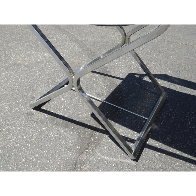 Vintage Contemporary Black Chrome Accent Chairs - A Pair For Sale - Image 9 of 11