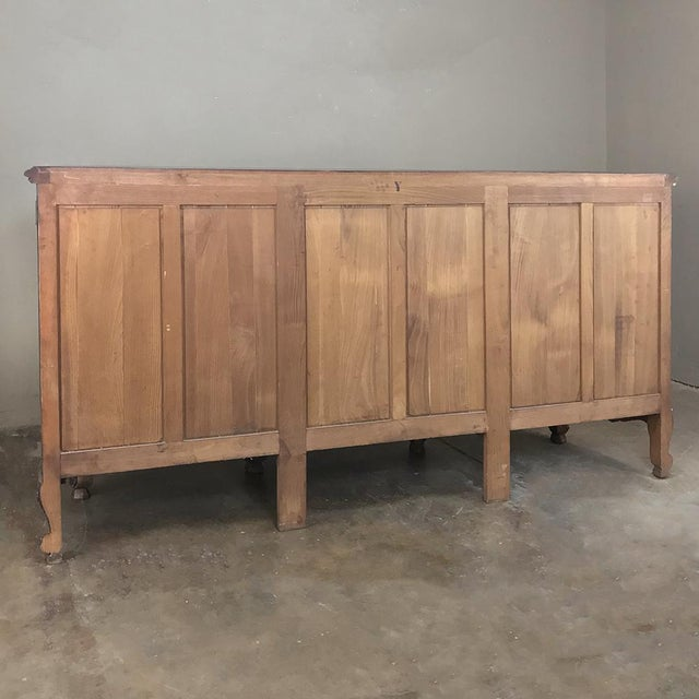 Antique Country French Louis XV Step-Front Buffet For Sale - Image 12 of 13