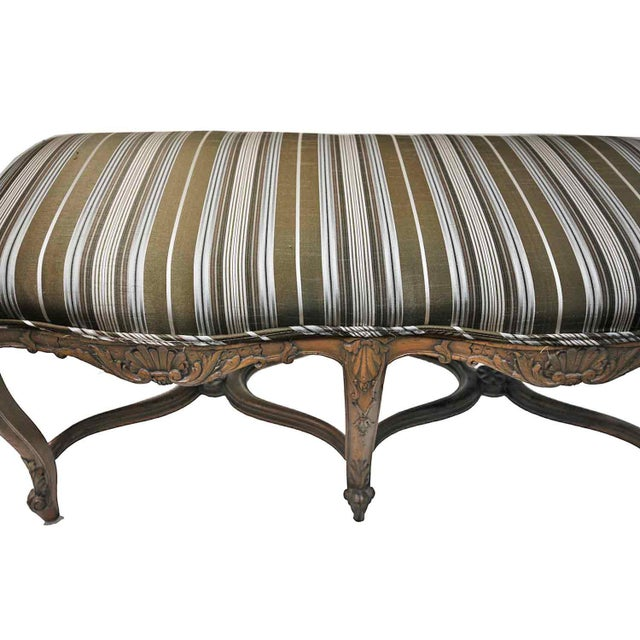 Bench - Antique Carved Bench - Image 3 of 5