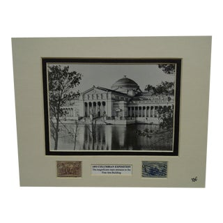 Vintage 1893 Columbian Exposition Matted Multi-Media Collage For Sale