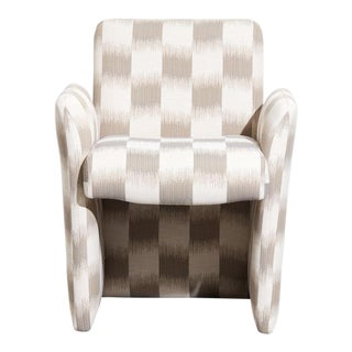 Vintage 1980s Chiclet Style Armchair For Sale
