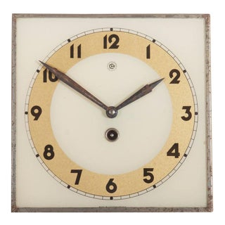 Art Deco Wall Clock by Chomutov, 1930s For Sale