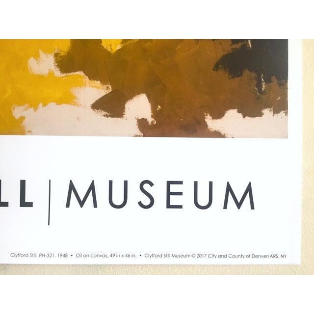 """Clyfford Still Abstract Expressionst Offset Lithograph Print Museum Poster """" Ph - 321 """" 1948 For Sale - Image 11 of 13"""