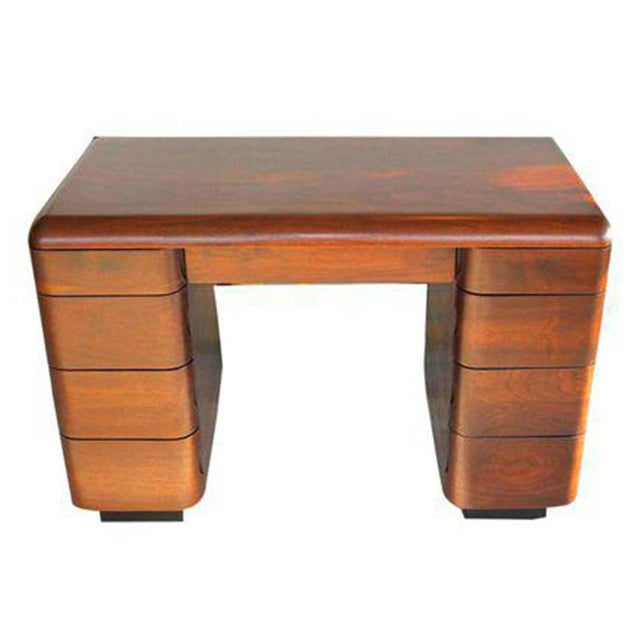 Brown 1940's Paul Goldman Bent Plywood Desk for Plymold Corp For Sale - Image 8 of 8