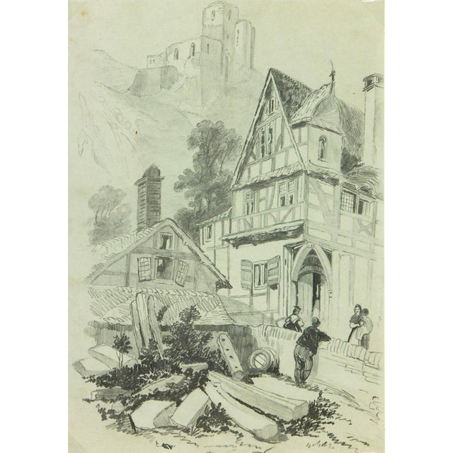 Drawing Town, Circa 1880 For Sale