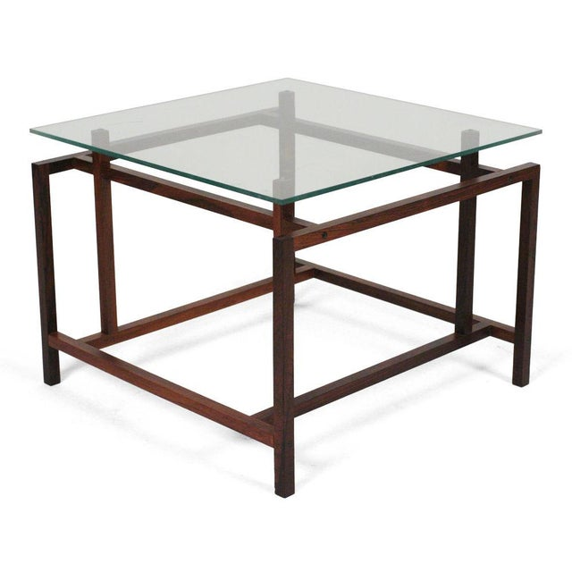 1960s Komfort Rosewood Architectural Frame Side Tables - a Pair For Sale - Image 5 of 6