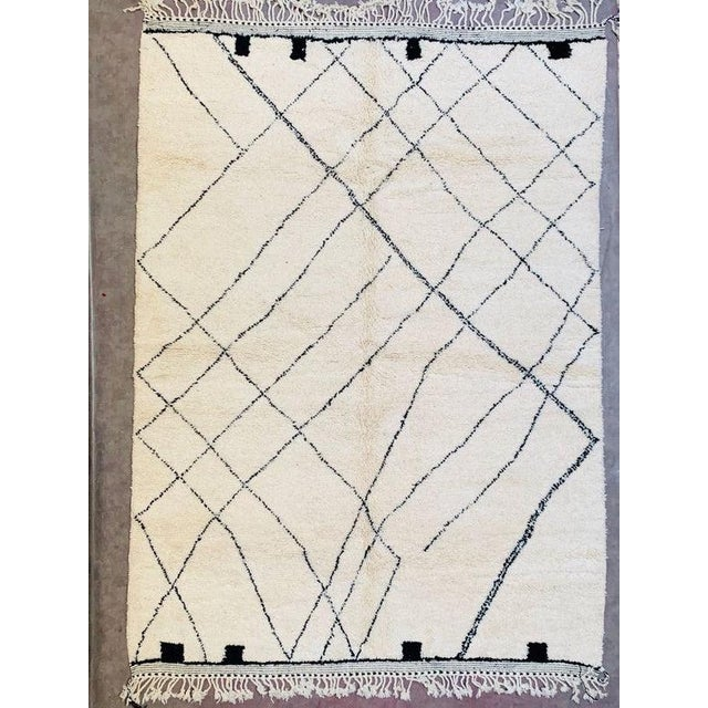 Moroccan Beni Ourain Rug For Sale - Image 9 of 9