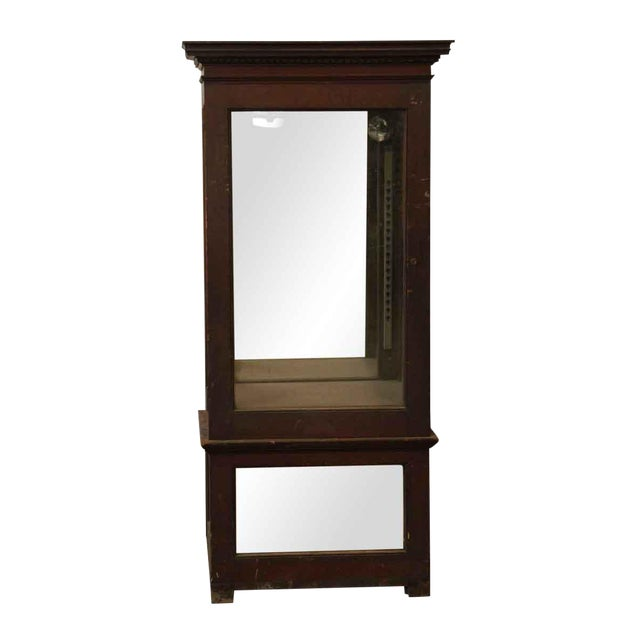 Wooden Cabinet With Mirrored Bottom For Sale