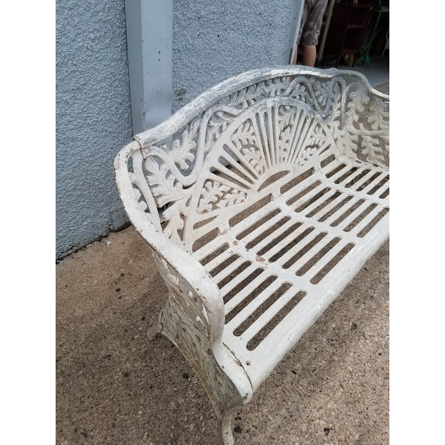American Cast Iron Antique Garden Bench For Sale - Image 3 of 9