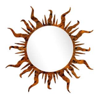 Fleur Home x Chairish Flambeau Circle Mirror in Tortoise, 36x36 For Sale