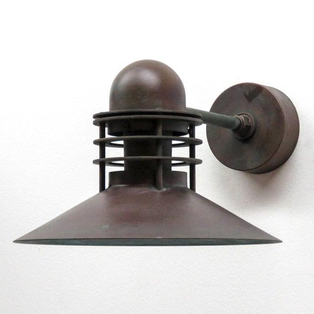 1970s Louis Poulsen Copper Outdoor Lamp, 1970 For Sale - Image 5 of 9