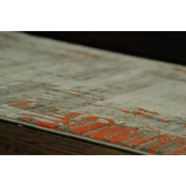 Contemporary Abstract Orange Rug - 2'8'' x 10' - Image 4 of 5