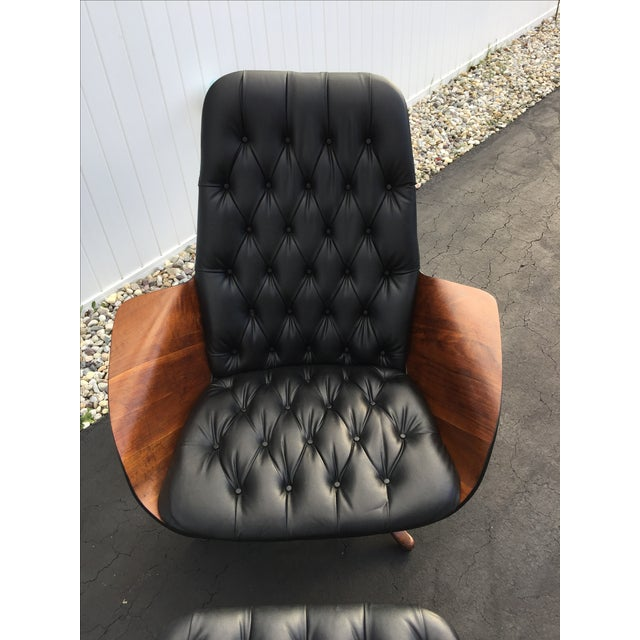 George Mulhauser for Plycraft Luxe Lounge Chair and Ottoman - Image 3 of 9