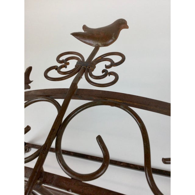 Metal Vintage Steel Wall Pan Holder Shelf For Sale - Image 7 of 13