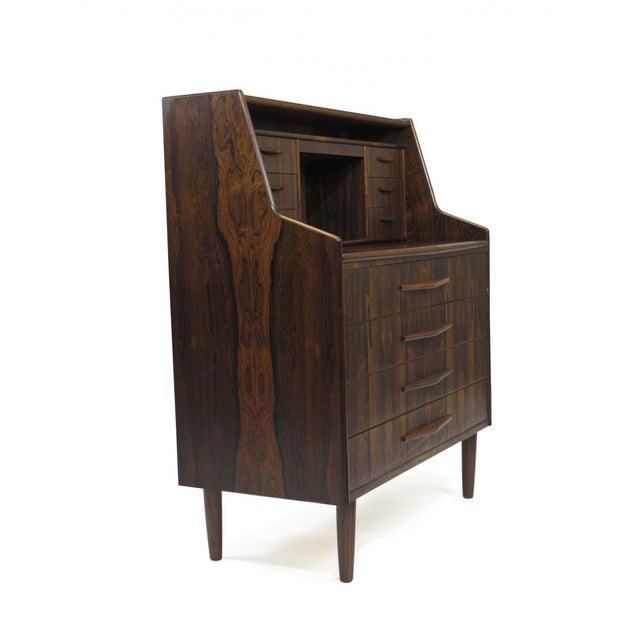 Scandinavian Modern Rosewood Secretary Desk For Sale - Image 4 of 9