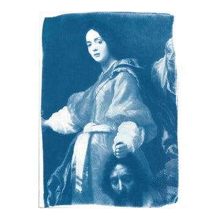 Painting of Judith Cyanotype Print