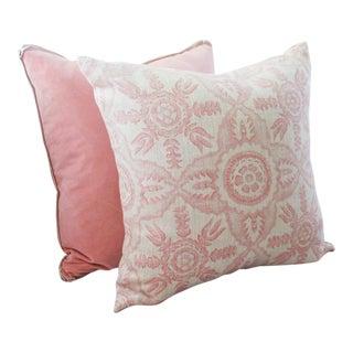 Austin Design House Soft Coral Linen Pillows - a Pair