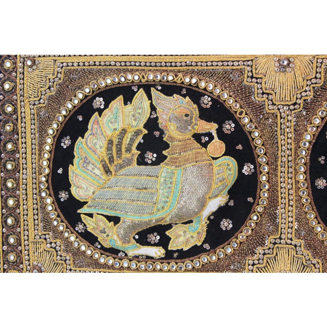Ivory Pasargad DC Hand Made India Beaded Turkey Raised Wall Art For Sale - Image 8 of 10